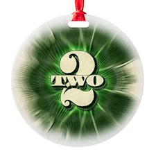 The TWO $2 bill - round ceramic ornament!