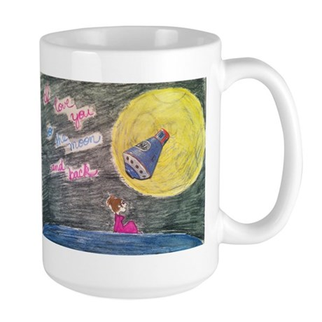 To the moon and back Large Mug