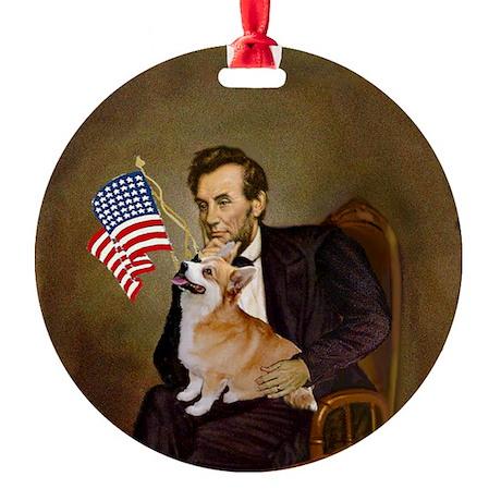 Lincoln and his Welsh Corgi Keepsake (Round)