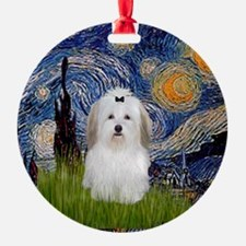 Starry Night Coton de Tulear Keepsake (Round)