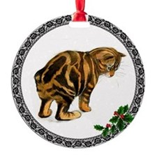 Manx Cat Ornament (Round)