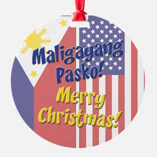 Maligayang Pasko Ornament (Round)