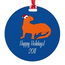 Ferret Happy Holidays! Ornament