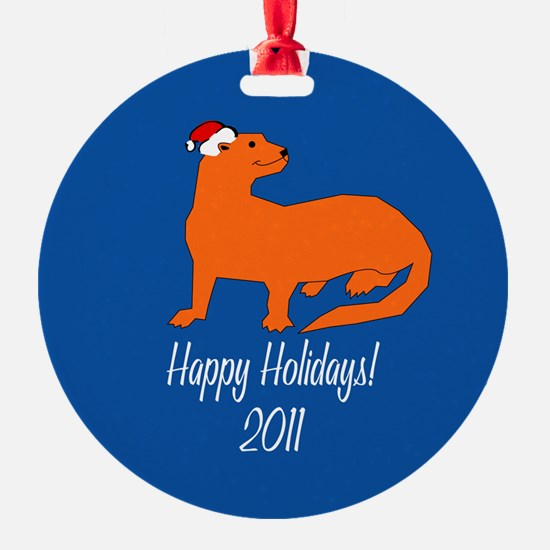 Ferret Happy Holidays! Ornament