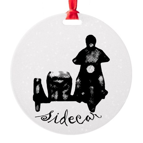 Classic Sidecar Ornament (Round)