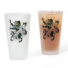 MacKenzie Tartan Lion Drinking Glass