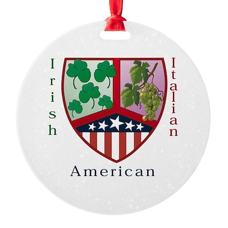 Irish Italian American Ornament (Round)