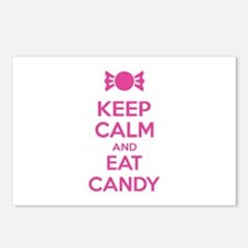 Keep calm and eat candy Postcards (Package of 8)
