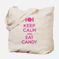 Keep calm and eat candy Tote Bag
