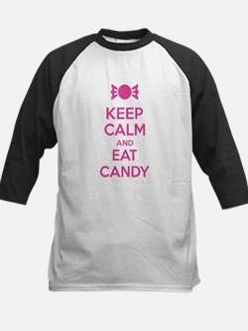 Keep calm and eat candy Kids Baseball Jersey