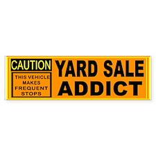 YARD SALES Bumper Sticker
