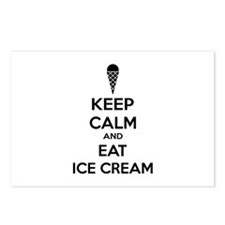 Keep calm and eat ice cream Postcards (Package of
