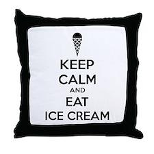 Keep calm and eat ice cream Throw Pillow