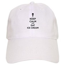 Keep calm and eat ice cream Baseball Cap