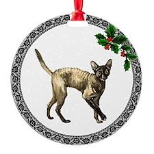 Cornish Rex Cat Ornament (Round)