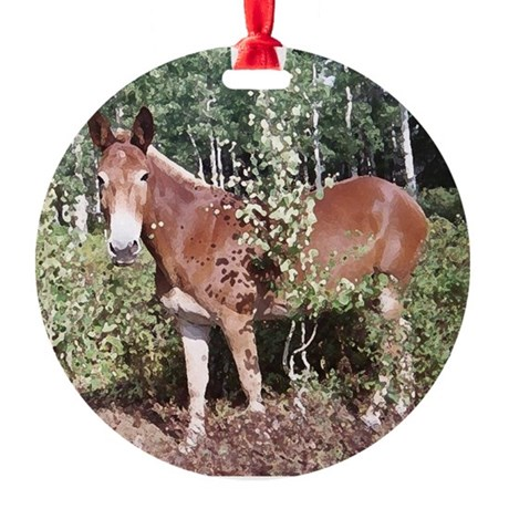 Charlie Mule Ornament (Round)