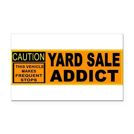 YARD SALES Rectangle Car Magnet