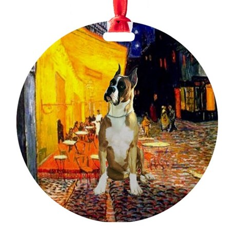 Terrace Cafe & Boxer Ornament (Round)