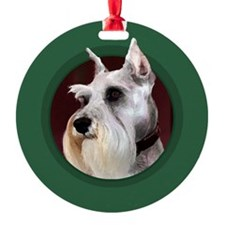 Miniature Schnauzer Green Ornament