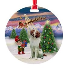 Take Of / Brittany Spaniel Ornament (Round)