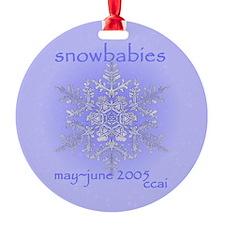 CCAI Snowbabies Ornament (Round)