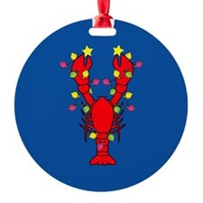 Lobster Happy Holidays! Ornament