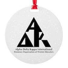 Alpha Delta Kappa Txt Logo Ornament (Round)