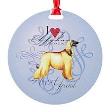 Afghan Hound Ornament (Round)