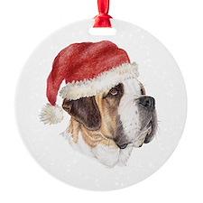 Christmas Saint Bernard Ornament (Round)
