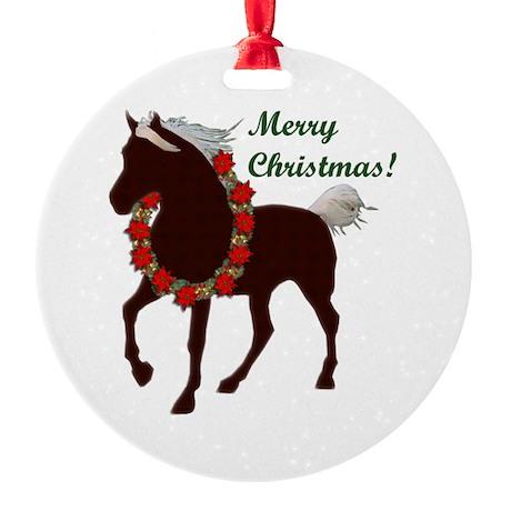MH Merry Xmas Round Ornament