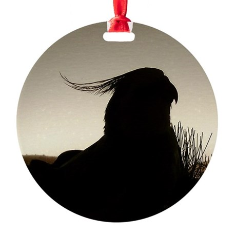 Cockatiel Silouette Ornament