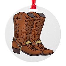 Cowboy Boots Ornament (Round)