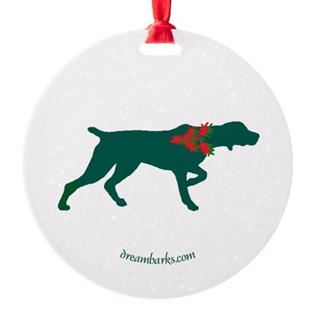 Pointer Christmas Ornament