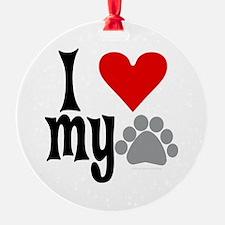 love Hemingway cat Ornament (Round)