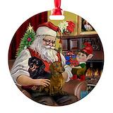 Dachshund christmas Round Ornament