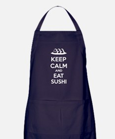 Keep calm and eat sushi Apron (dark)