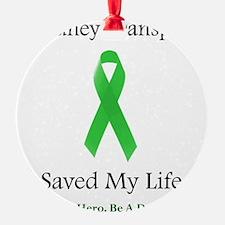 Kidney Transplant Survivor Ornament (Round)