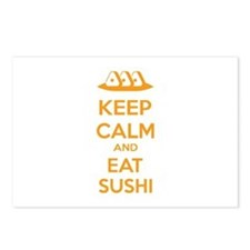 Keep calm and eat sushi Postcards (Package of 8)