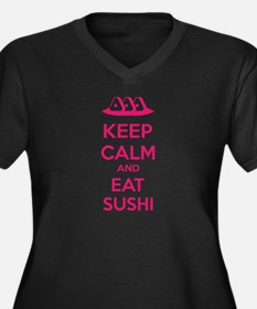 Keep calm and eat sushi Women's Plus Size V-Neck D