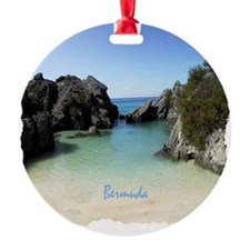 Bermuda Beach Cove - Gift Ornament Round