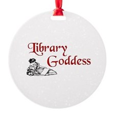 Library Goddess Vintage Ornament (Round)