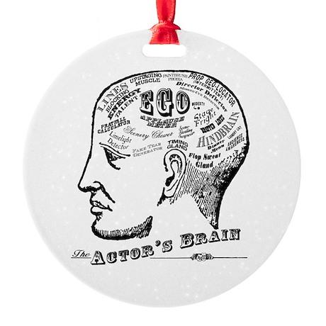 The Actor's Brain Ornament (Round)