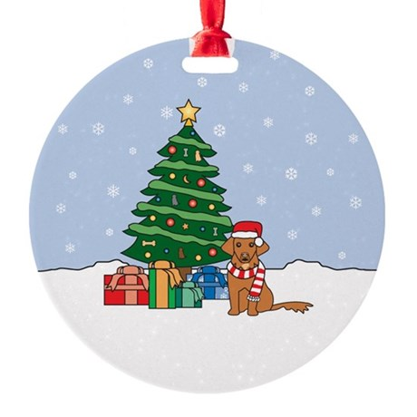 Toller Christmas Round Ornament