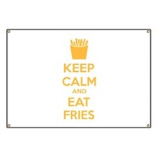 Keep calm and eat fries Banner
