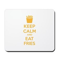 Keep calm and eat fries Mousepad