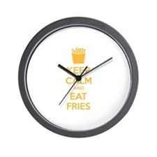 Keep calm and eat fries Wall Clock