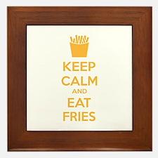 Keep calm and eat fries Framed Tile