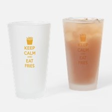 Keep calm and eat fries Drinking Glass