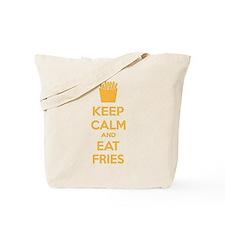 Keep calm and eat fries Tote Bag