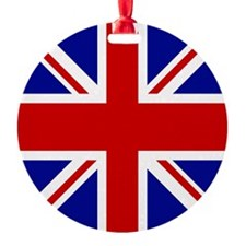 Union Jack British Flag | Ornament (Round)